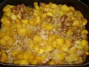 блюда из картофеля с мясом