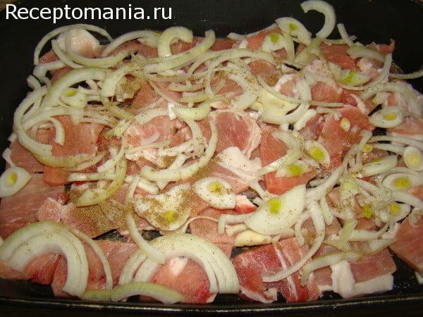 мясо в овощами в духовке рецепт с фото